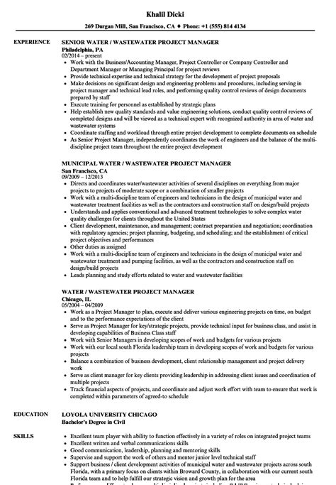 civil project manager sle resume science topics for