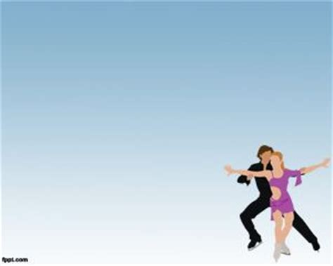 ppt themes dance ice skates powerpoint templates