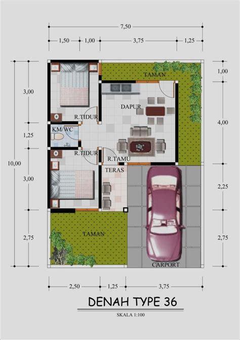 berikut model desain  denah rumah minimalis type  terbaru gambar desain model rumah minimalis