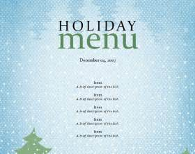 free printable holiday menu templates search results