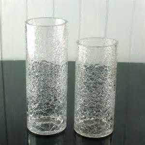 Glass Cylinder Vase Crackled Glass Vases On Global Sources