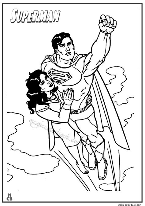 superman free coloring pages