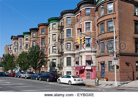 sugar hill section of harlem new york city usa at rowhouses in the jumel terrace