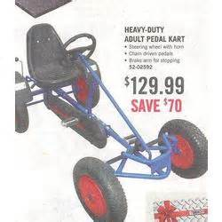 Heavy duty adult pedal kart at tractor supply black friday 2008