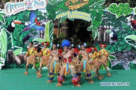 themes zone rainforest theme zone opens in hk ocean park