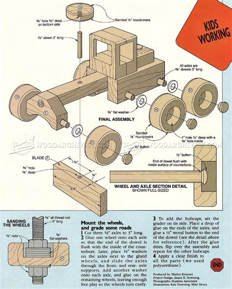 woodworking plans toys 349 road grader wooden plans wooden plans