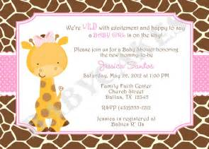 giraffe baby shower invitation invite giraffe invitation