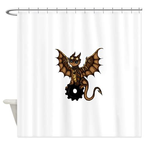 punk shower curtains steunk dragon shower curtain by pezicreation