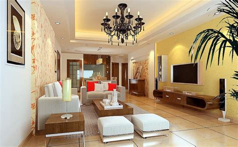 yellow living room walls modern house interior