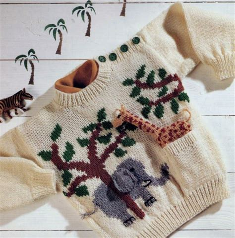 knit pattern for giraffe sweater details about vintage knitting pattern toddler s jungle