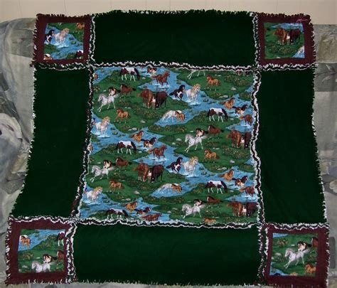Chocolate Brown Quilt by Kenlee Crafts Horses With Chocolate Brown And