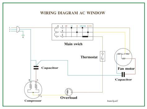 wiring diagram ac window refrigeration air conditioning