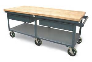 mobiler tisch strong hold products mobile shop table with maple top