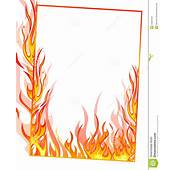 Frame Clipart Fire  Pencil And In Color