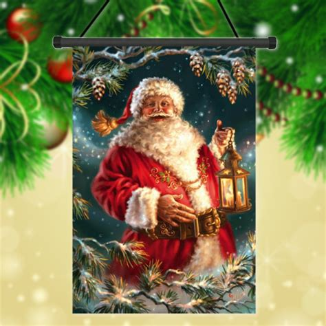 Gardens Santa Claus by 30x45cm Santa Claus Polyester Welcome Flag