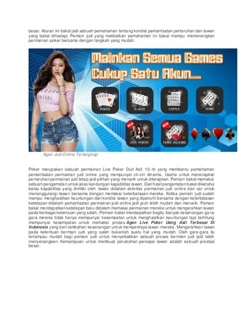 agen  poker uang asli terbesar  indonesia
