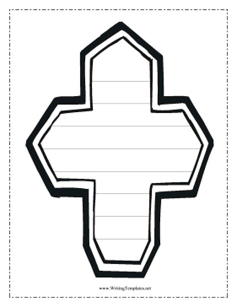 Sunday School Cross Writing Template Writing Template Writing A Prayer Template