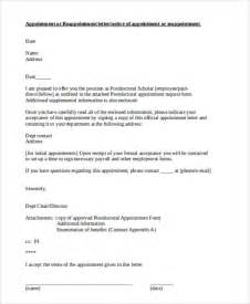 appointment letter format for government appointment letter government official best free