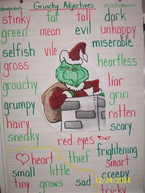 words that describe christmas how the grinch stole mrs didonato s grade 1 2 class