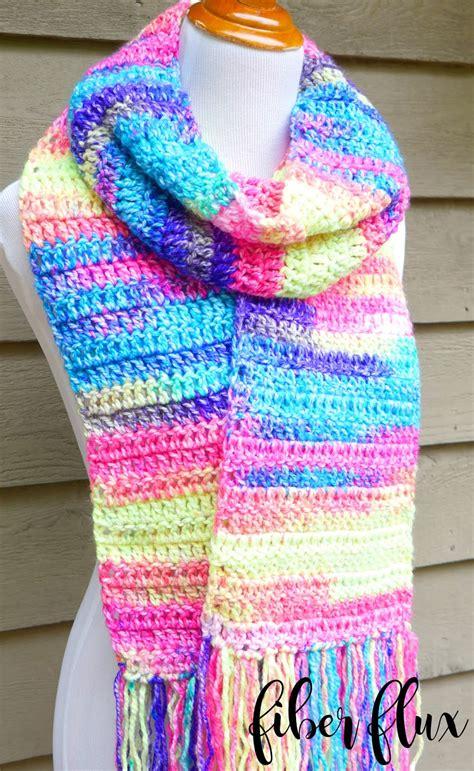 crochet scarf pattern beginner video fiber flux free crochet pattern absolute beginner