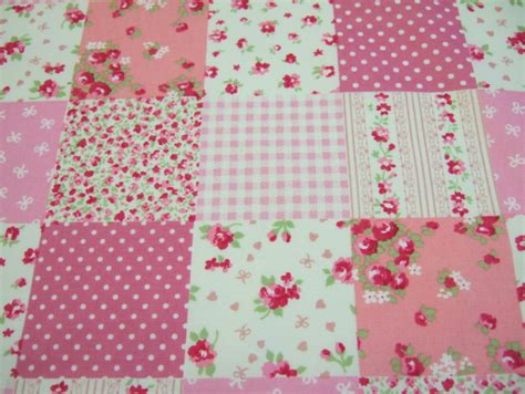 Pink Patchwork Fabric - p48 pink patchwork