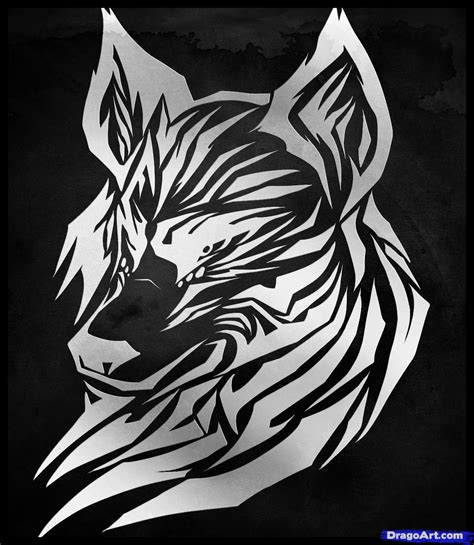how to a wolf learn how to draw a tribal wolf tribal wolf tribal pop culture free step by