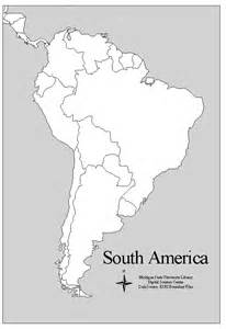 printable map south america printable map of central america and south america