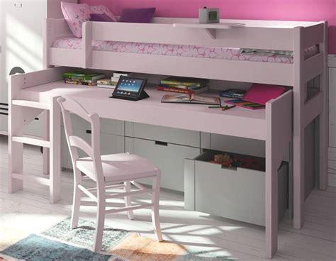 bureau avec 騁ag鑽e lit mezzanine pour la chambre de votre enfant lit et
