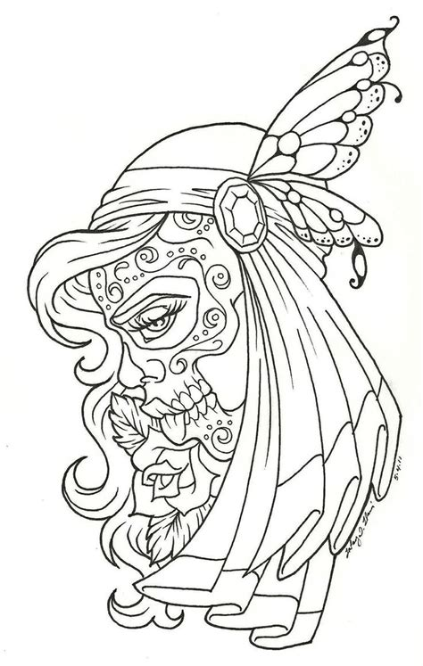 day of the dead coloring pages free dia de los muertos