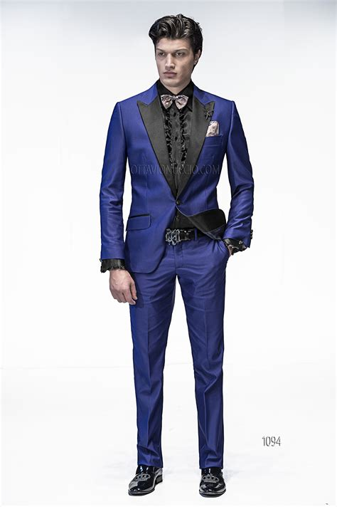 wedding suits for groom in royal viscose blend