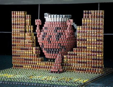 canned food sculpture ideas 65 unbelievable canstruction sculptures