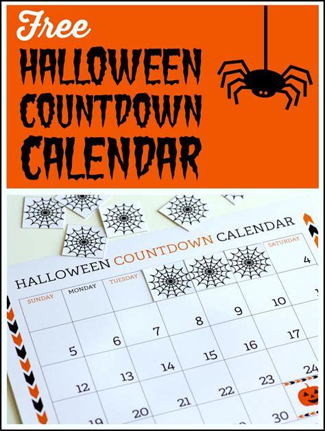 halloween countdown calendar printable calendar template