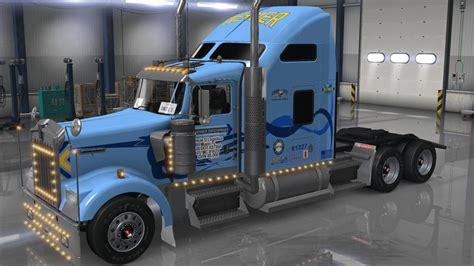 trucking companies with kenworth w900 uncle d logistics werner trucking kenworth w900 skin
