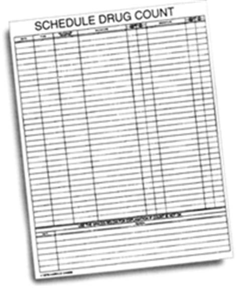 Narcotic Count Sheet New Calendar Template Site Narcotic Count Sheet Templates