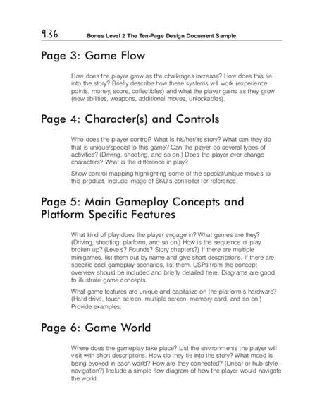 document layout design exles ten page document