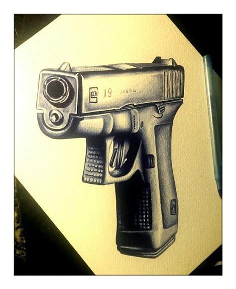 bic pen tattoo gun pen drawing art glock gun firearm guns gun glock