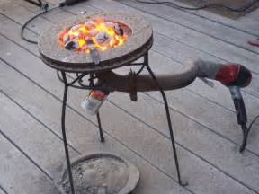 Propane Fire Pit Parts by Diy Forge With Disk Brake Blacksmithing Pinterest