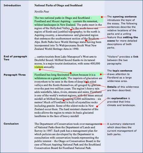 Essay Structure by Essay Exles Pictures