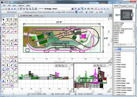 sandia software cadrail model railroad layout design table of contents
