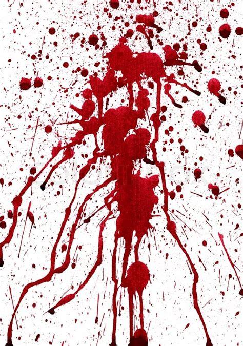Fn Bloody bloody splashes on white background stock photo colourbox