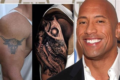 the rock reveals why he s replaced his famous bull tattoo