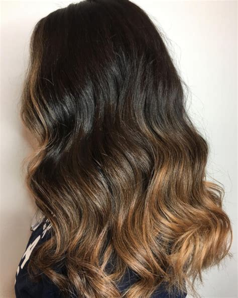 obre dye dip golden medium length hair ombr 233 hair noir et caramel