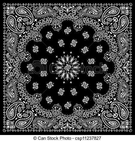 bandana pattern drawing bandana print clipart