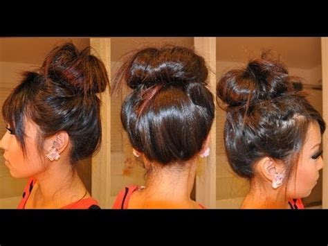 buns done with weave high messy bun with weave www pixshark com images