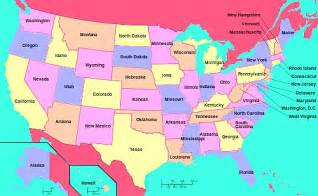 america map with state names america map