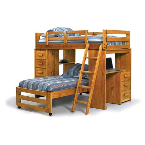 twin bed bunk beds twin over full bunk bed with desk best alternative for kids room homesfeed
