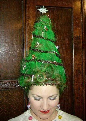 cute yet crazy christmas tree party hairstyles ideas