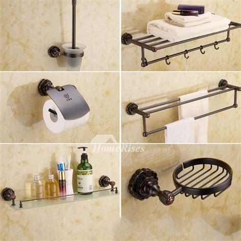 Black Vintage Oil Rubbed Bronze Bathroom Accessories Sets Vintage Bathroom Accessories Sets