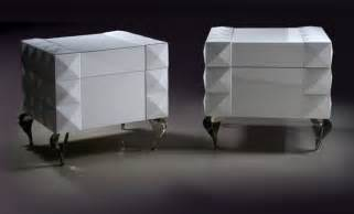901 modern white lacquer nightstand