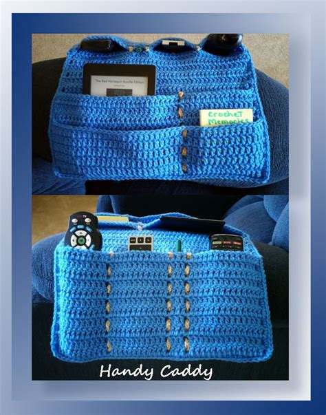 free crochet pattern remote holder handy caddy cal part a crochet memories blog